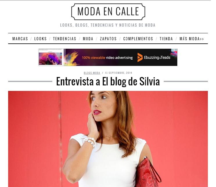 Mi entrevista para Moda en Calle