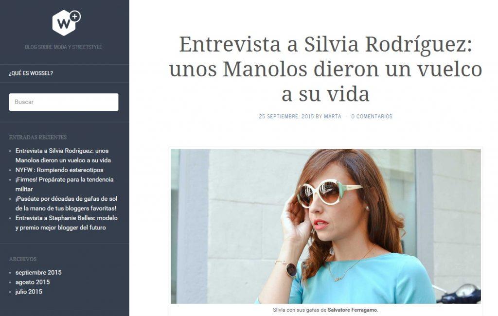 el blog de silvia - entrevista en Wossel