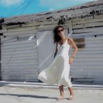 QROO Holbox – Midi white dress