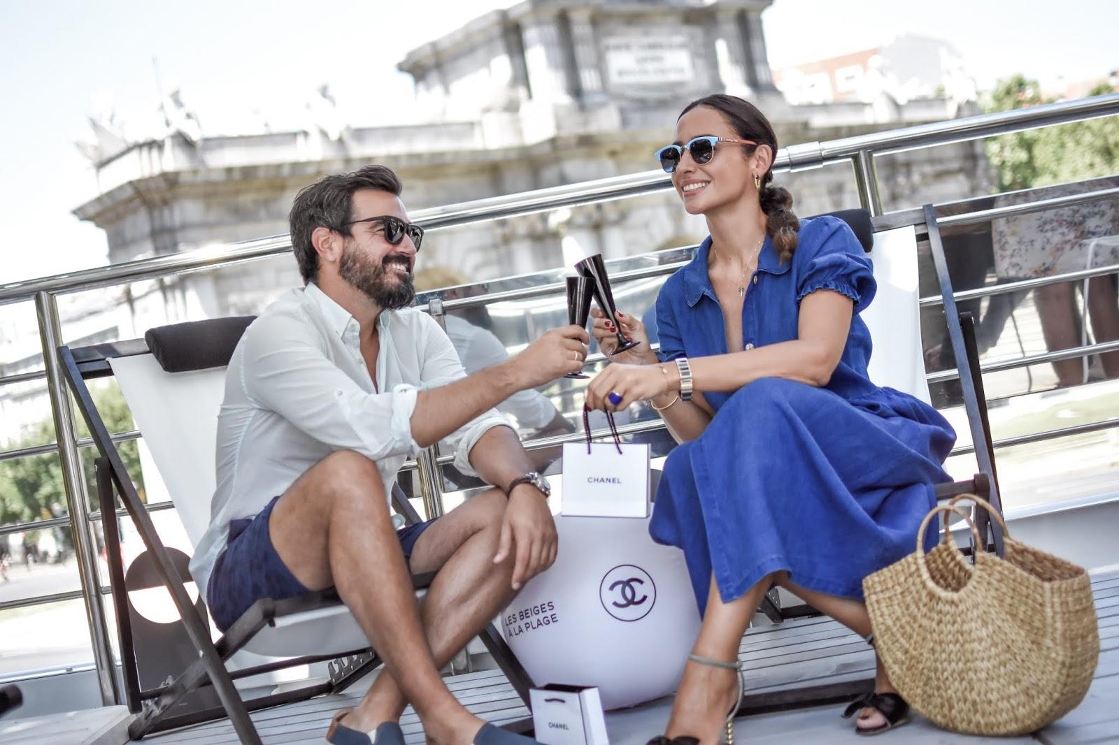 personalizadas buscar genuino mejor venta Vestido azul de lino - El Blog de Silvia