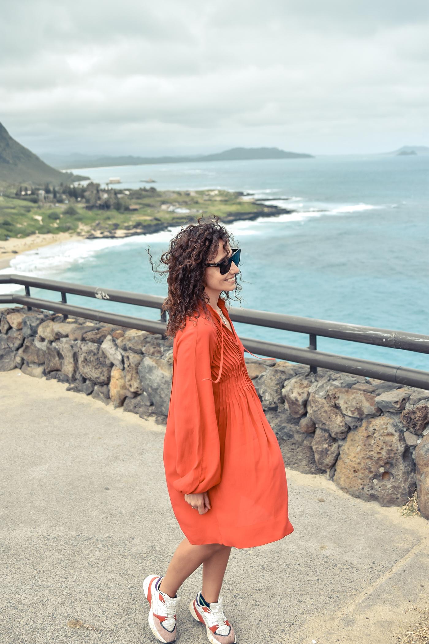 1-el-blog-de-silvia-viaje-hawaii-oahu-vestido-naranja