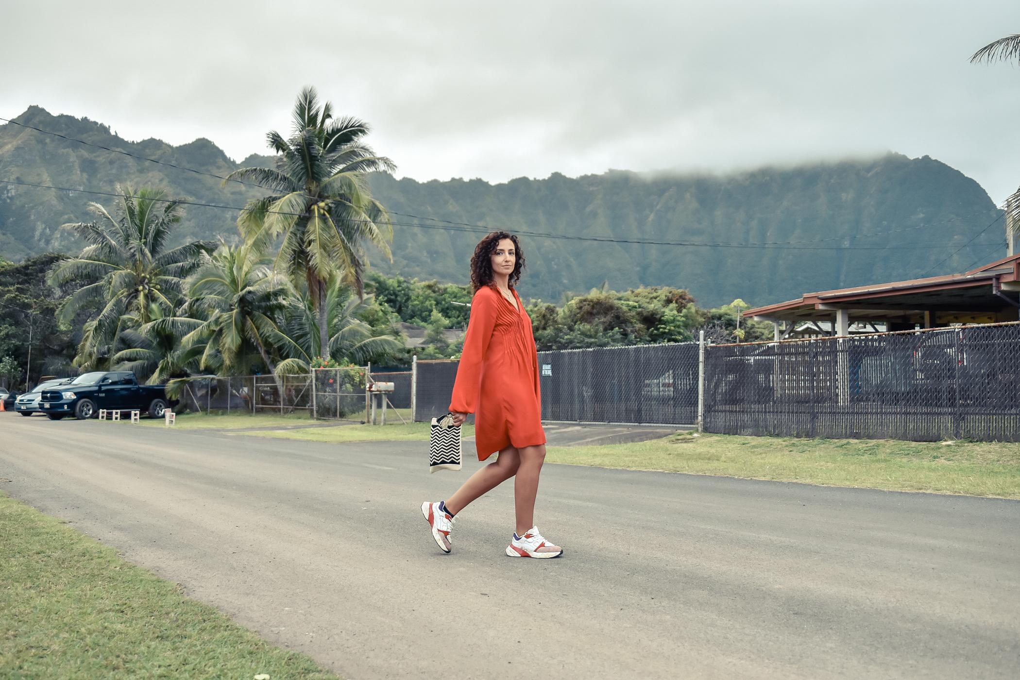 7-el-blog-de-silvia-viaje-hawaii-oahu-vestido-naranja