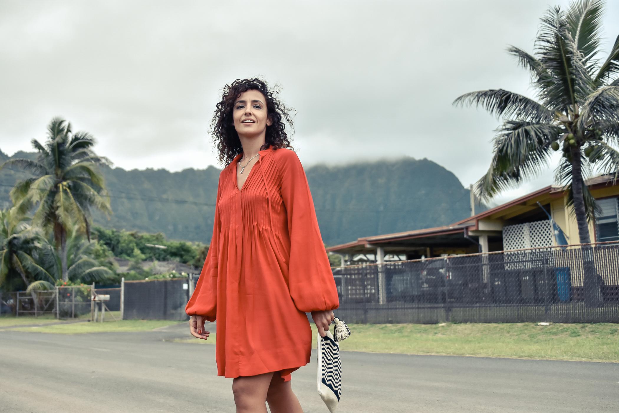 8-el-blog-de-silvia-viaje-hawaii-oahu-vestido-naranja