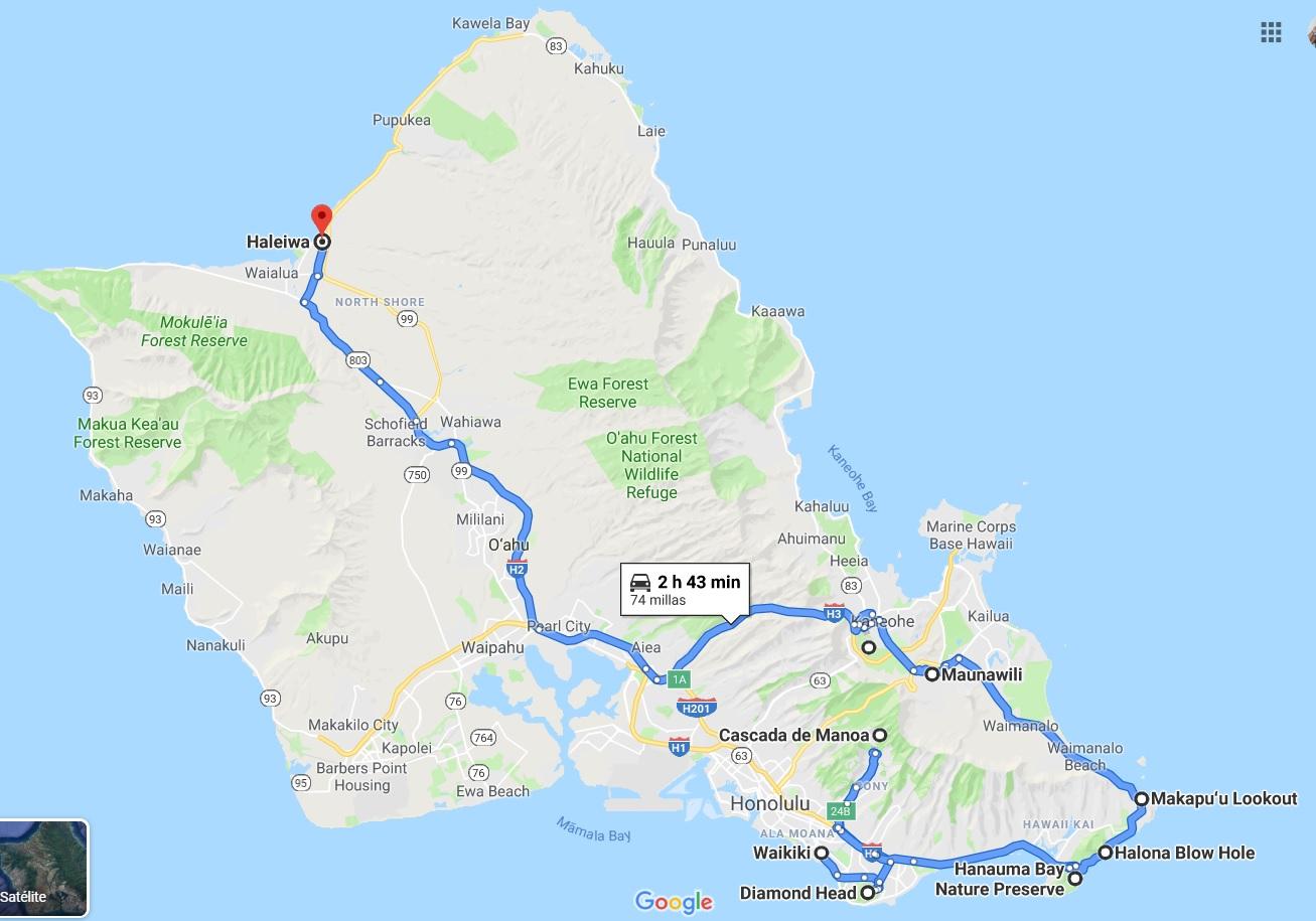 ruta_por_Oahu_en_un_dia