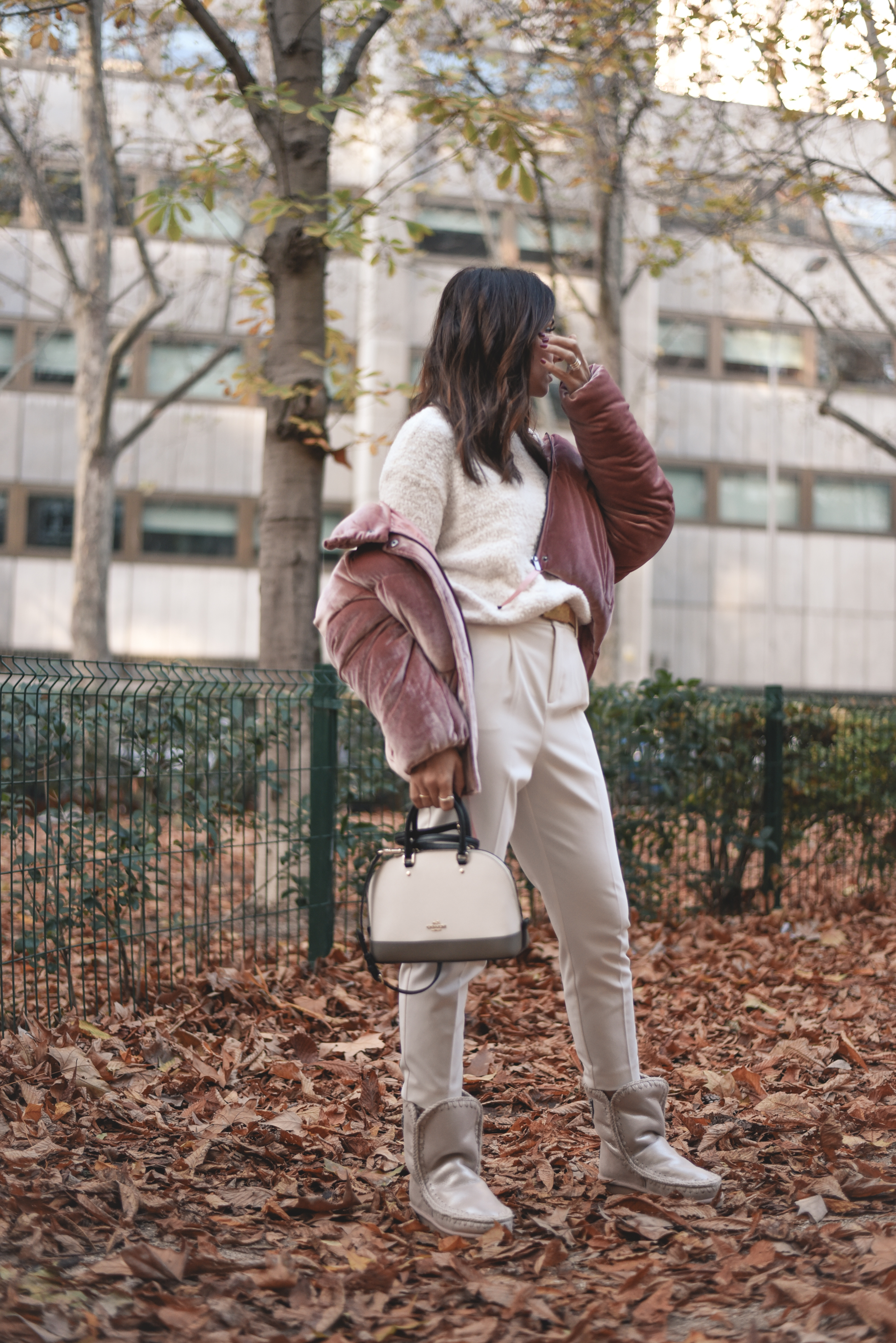 vestir de blanco en invierno